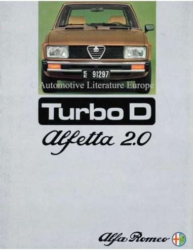 1976 ALFA ROMEO ALFETTA 2.0 TURBO D BROCHURE NEDERLANDS