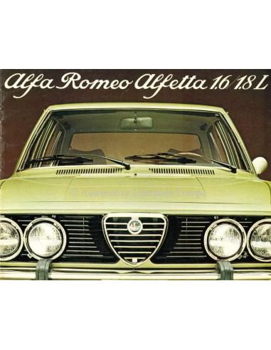 1977 ALFA ROMEO ALFETTA 1.6 & 1.8 L BROCHURE DUTCH
