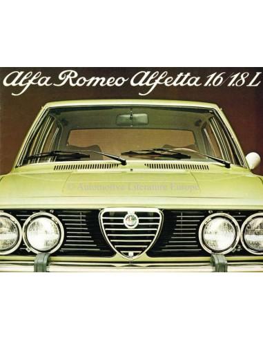 1979 ALFA ROMEO ALFETTA 1.6 & 1.8 L BROCHURE DUTCH