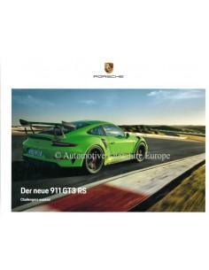 2018 PORSCHE 911 GT3 RS HARDBACK BROCHURE GERMAN