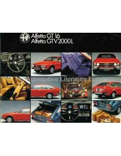 1979 ALFA ROMEO ALFETTA GT 1.6 & GTV 2000 L BROCHURE DUTCH