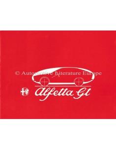 1974 ALFA ROMEO ALFETTA GT 1800 BROCHURE DUTCH