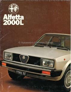 1978 ALFA ROMEO ALFETTA 2000 L PRESSEMAPPE NIEDERLÄNDISCH