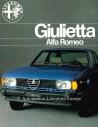 1977 ALFA ROMEO GIULIETTA BROCHURE FRENCH