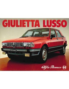 1981 ALFA ROMEO GIULIETTA LUSSO BROCHURE GERMAN