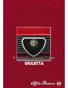1983 ALFA ROMEO GIULIETTA BROCHURE DUITS
