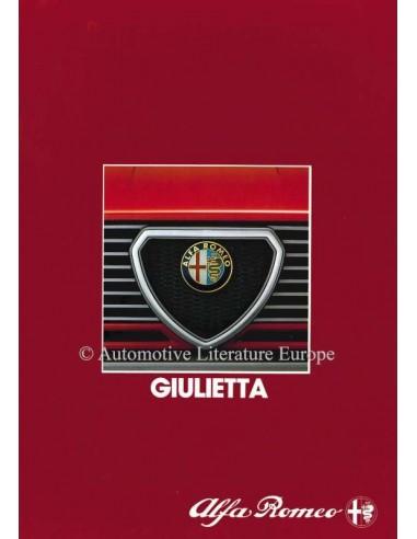 1983 ALFA ROMEO GIULIETTA BROCHURE GERMAN