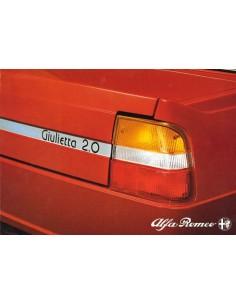 1980 ALFA ROMEO GIULIETTA 2.0 BROCHURE NEDERLANDS