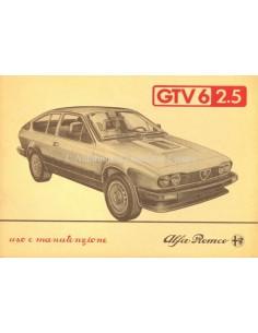 1983 ALFA ROMEO GTV6 2.5 OWNERS MANUAL ITALIAN