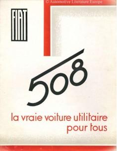 1934 FIAT 508 BROCHURE FRANS
