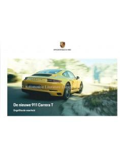 2018 PORSCHE 911 CARRERA T BROCHURE NEDERLANDS