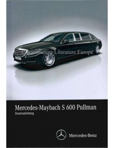 2016 MERCEDES-MAYBACH S 600 PULLMANN  OWNERS MANUAL SUPPLEMENT GERMAN