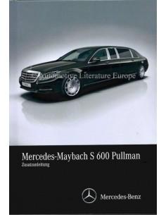 2016 MERCEDES-MAYBACH S 600 PULLMANN ZUSATZANLEITUNG GERMAN
