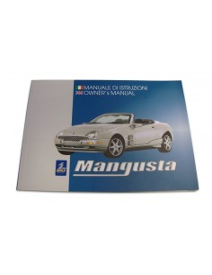 2000 QVALE MANGUSTA OWNER'S MANUAL ITALIAN ENGLISH