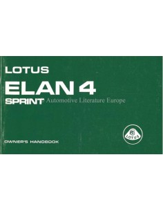 1972 LOTUS ELAN 4 SPRINT OWNERS MANUAL ENGLISH