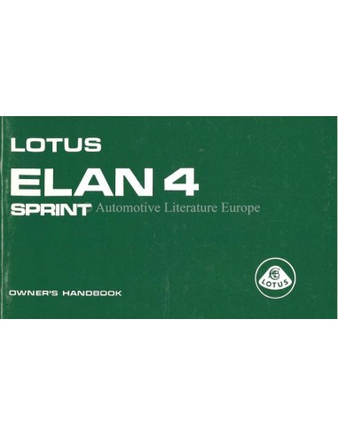1972 LOTUS ELAN 4 SPRINT INSTRUCTIEBOEKJE ENGELS