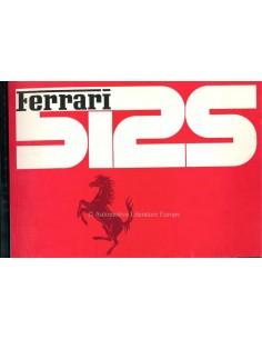 1970 FERRARI 512S BETRIEBSANLEITUNG ITALIENISCH / ENGLISCH