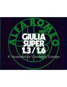 1973 ALFA ROMEO GIULIA SUPER 1.3 / 1.6 BROCHURE NEDERLANDS