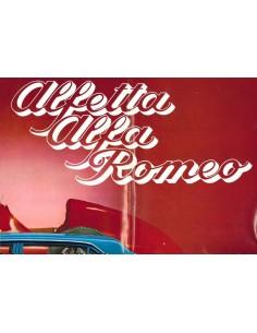 1972 ALFA ROMEO ALFETTA BROCHURE POSTER NIEDERLÄNDISCH