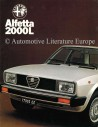 1978 ALFA ROMEO ALFETTA  2000L BROCHURE DUTCH