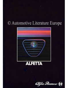 1984 ALFA ROMEO ALFETTA BROCHURE DUTCH