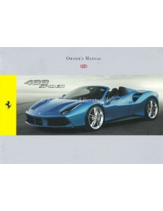 2015 FERRARI 488 SPIDER OWNERS MANUAL ENGLISH