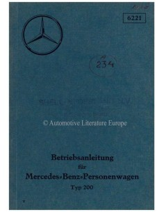 1936 MERCEDES BENZ TYPE 200 OWNERS MANUAL GERMAN