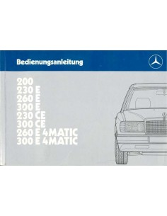1987 MERCEDES BENZ E CLASS OWNERS MANUAL GERMAN