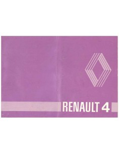 1980 RENAULT 4 OWNERS MANUAL DUTCH