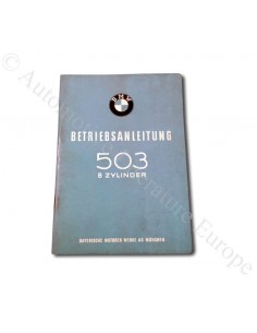 1958 BMW 503 COUPE CONVERTIBLE V8 OWNERS MANUAL GERMAN