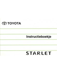 1996 TOYOTA STARLET OWNERS MANUAL DUTCH