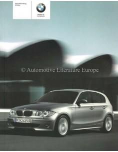 2005 BMW 1 SERIE INSTRUCTIEBOEKJE DEENS