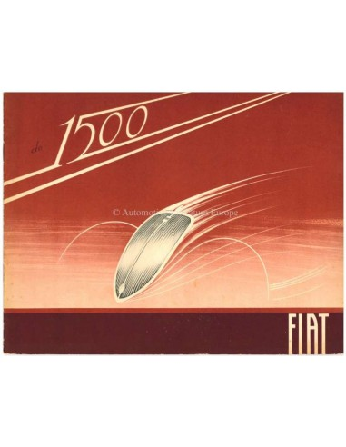 1936 FIAT 1500 BROCHURE DUTCH