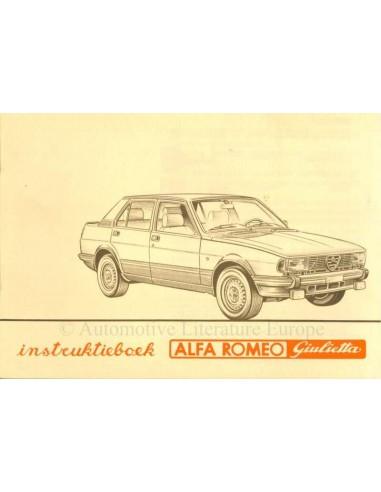 1981 ALFA ROMEO GIULIETTA BETRIEBSANLEITUNG NIEDERLÄNDISCH