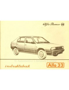 1983 ALFA ROMEO 33 INSTRUCTIEBOEKJE NEDERLANDS