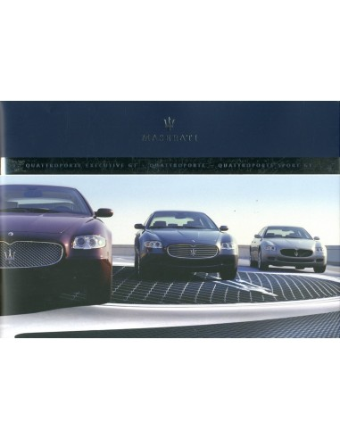 2005 Maserati Quattroporte V Executeive Sport Gt Brochure English