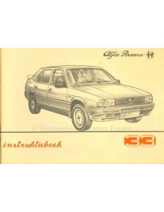 1986 ALFA ROMEO 33 OWNERS MANUAL DUTCH