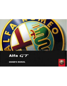 2004 ALFA ROMEO GT OWNERS MANUAL ENGLISH