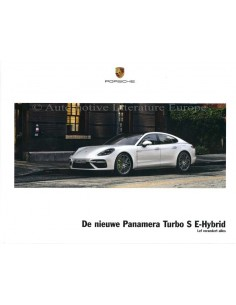 2018 PORSCHE PANAMERA TURBO S E-HYBRID HARDCOVER BROCHURE DUTCH