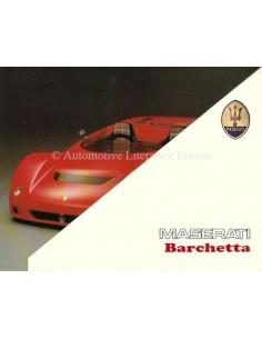 1992 MASERATI BARCHETTA BROCHURE ITALIAANS