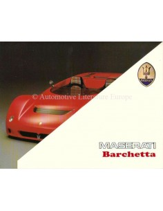 1992 MASERATI BARCHETTA PROSPEKT ITALIENISCH
