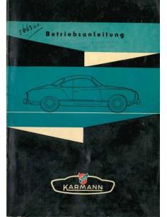 1956 VOLKSWAGEN KARMANN GHIA OWNERS MANUAL GERMAN