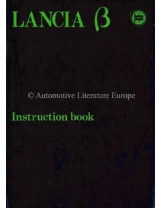 1980 LANCIA BETA LIMOUSINE BETRIEBSANLEITUNG ENGLISCH