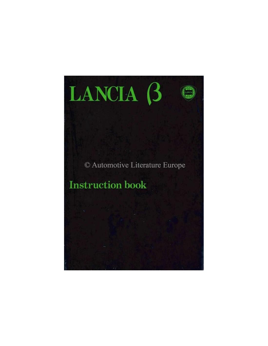 1980 lancia beta saloon owners manual english rh autolit eu Lancia Stratos Lancia Delta