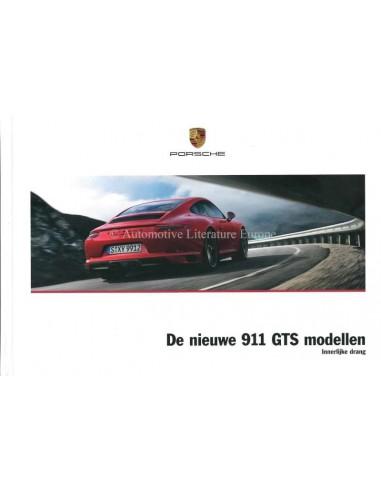 2017 PORSCHE 911 CARRERA GTS HARDCOVER BROCHURE GERMAN