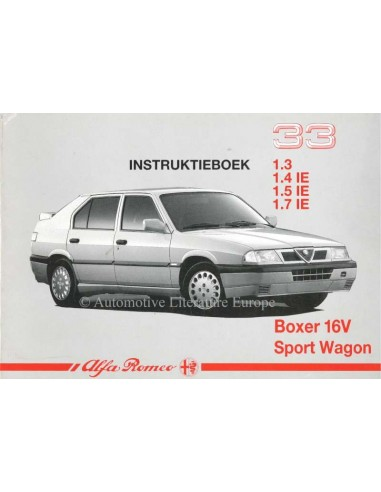 1991 ALFA ROMEO 33 + SPORTWAGON OWNERS MANUAL DUTCH