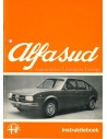 1973 ALFA ROMEO ALFASUD OWNERS MANUAL DUTCH
