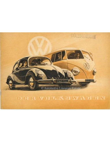 1951 VOLKSWAGEN BEETLE / TRANSPORTER BROCHURE GERMAN