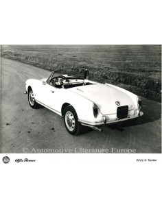 1962 ALFA ROMEO GIULIA SPIDER PERSFOTO