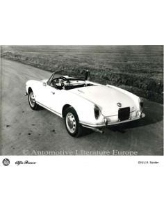 1962 ALFA ROMEO GIULIA SPIDER PRESSEBILD